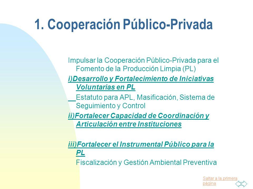 1. Cooperación Público-Privada