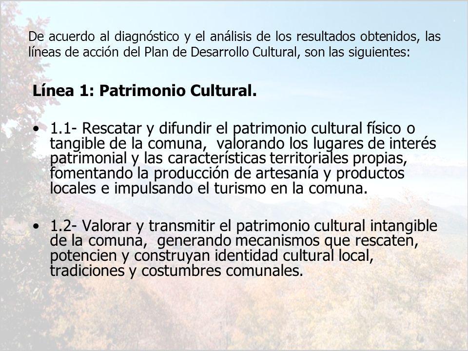 Línea 1: Patrimonio Cultural.