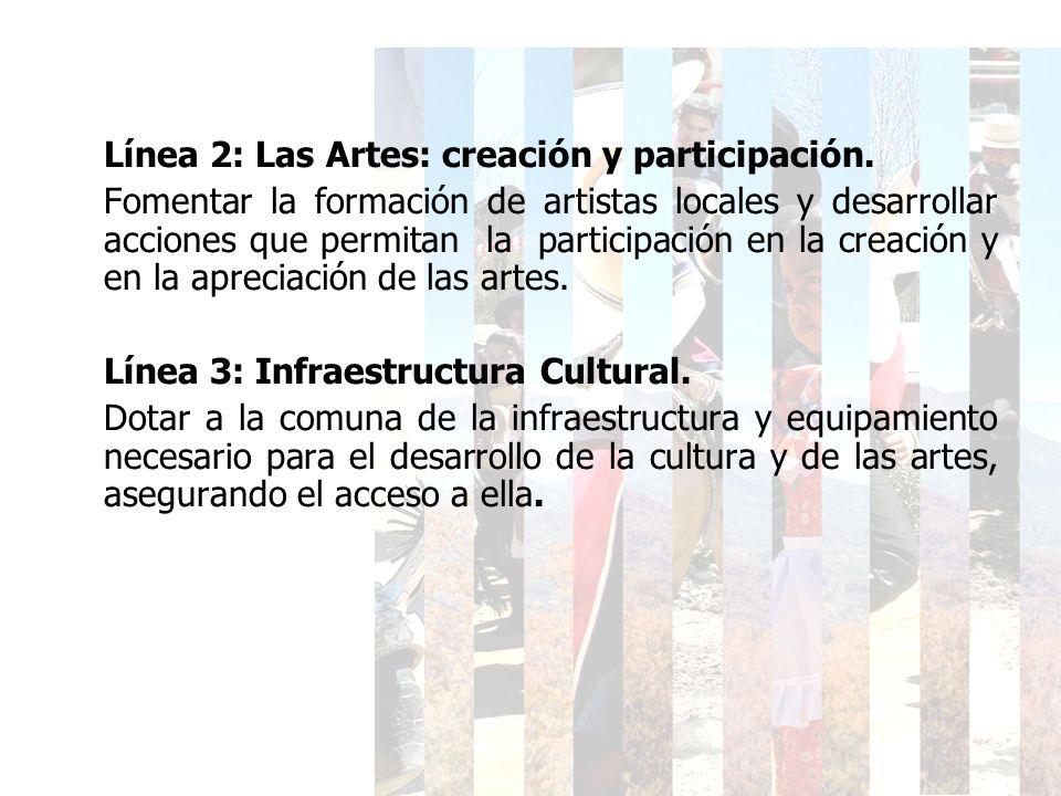 Línea 2: Las Artes: creación y participación.