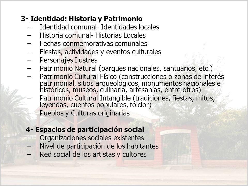 3- Identidad: Historia y Patrimonio