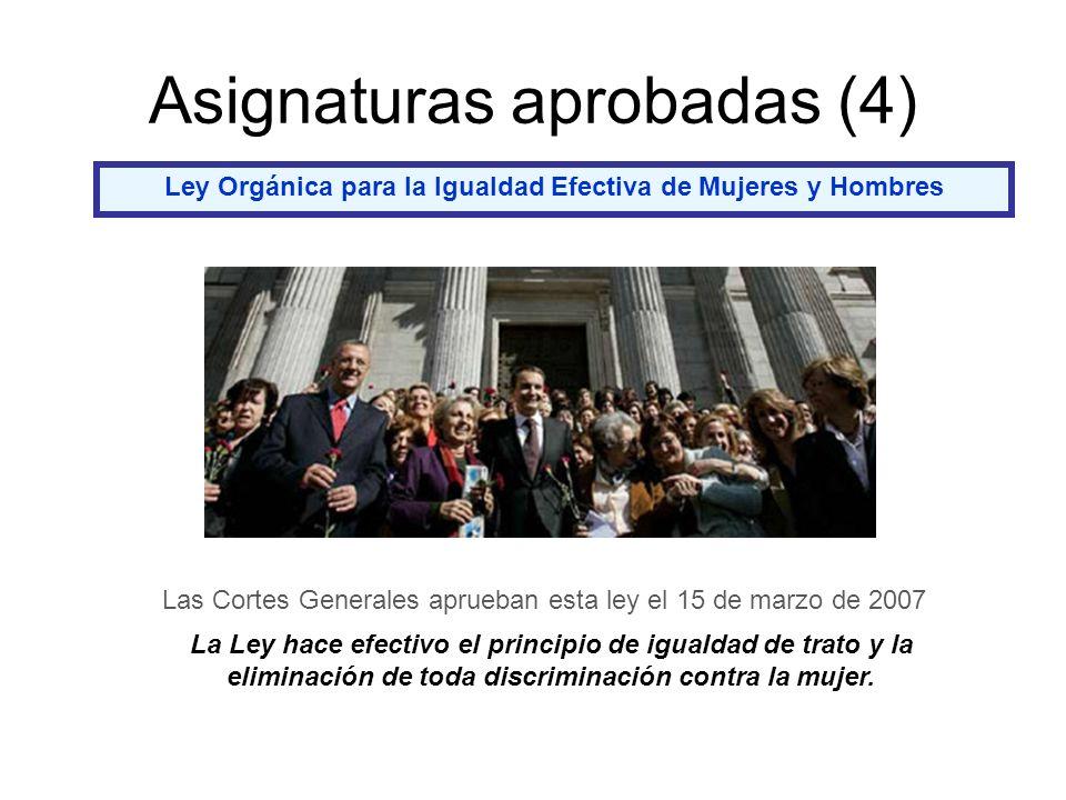 Asignaturas aprobadas (4)