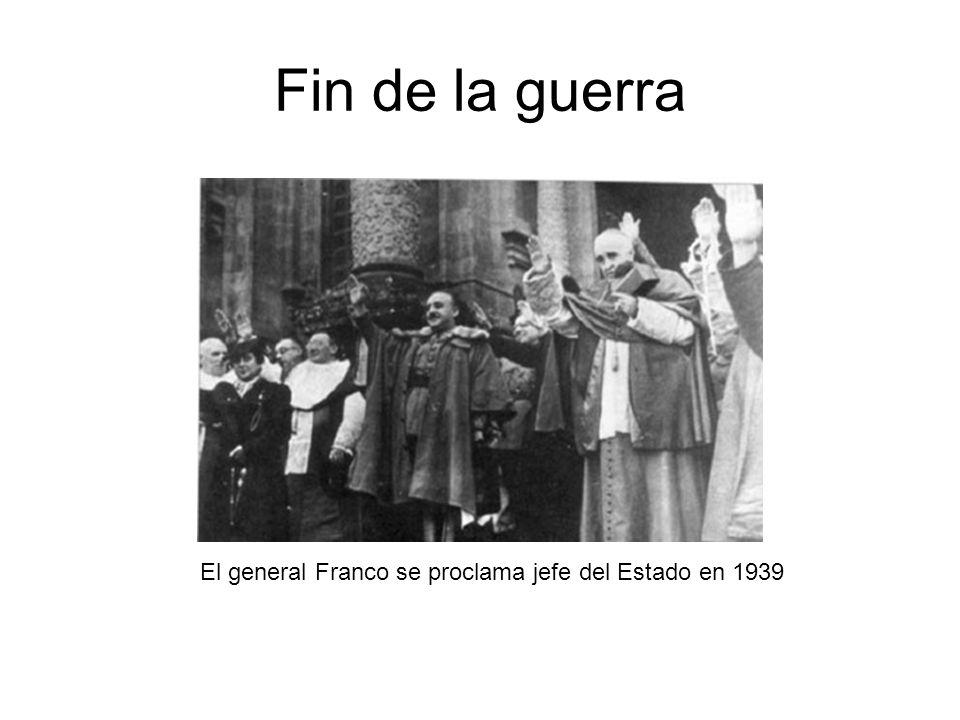 El general Franco se proclama jefe del Estado en 1939