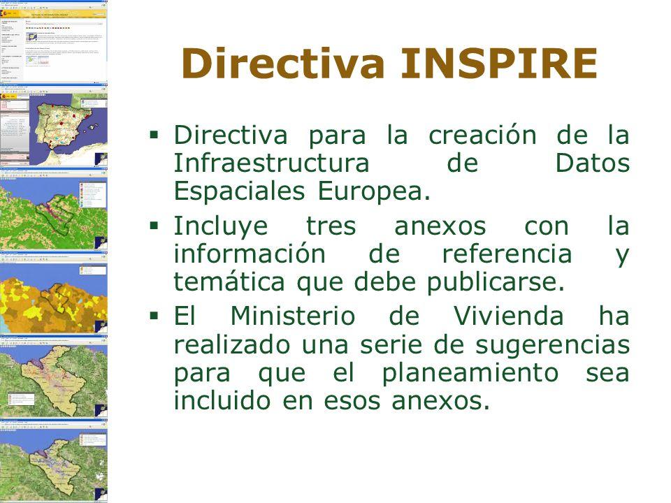 Directiva INSPIRE Directiva para la creación de la Infraestructura de Datos Espaciales Europea.
