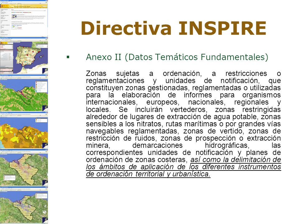 Directiva INSPIRE Anexo II (Datos Temáticos Fundamentales)