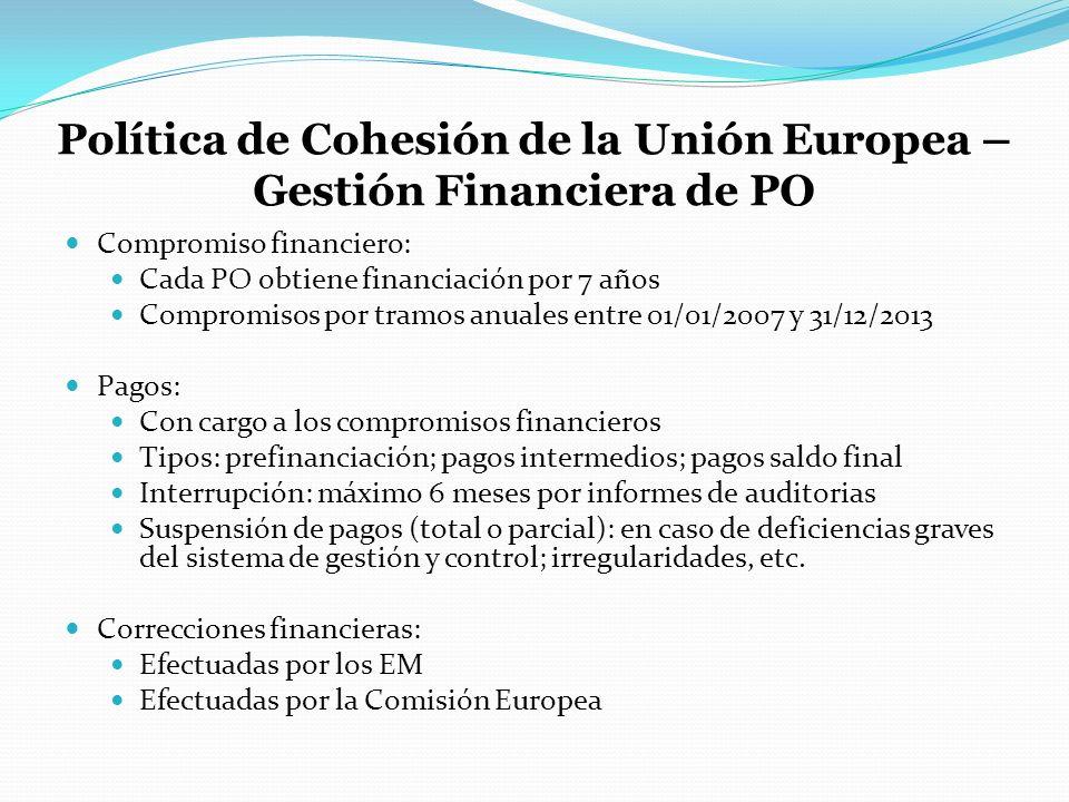 Política de Cohesión de la Unión Europea – Gestión Financiera de PO