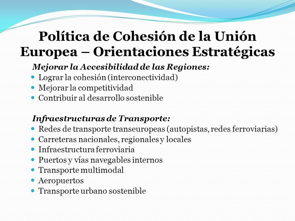 Política de Cohesión de la Unión Europea – Orientaciones Estratégicas