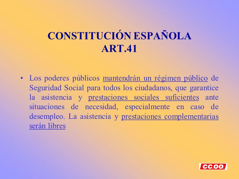 CONSTITUCIÓN ESPAÑOLA ART.41