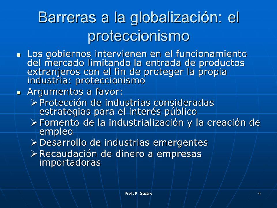 Barreras a la globalización: el proteccionismo