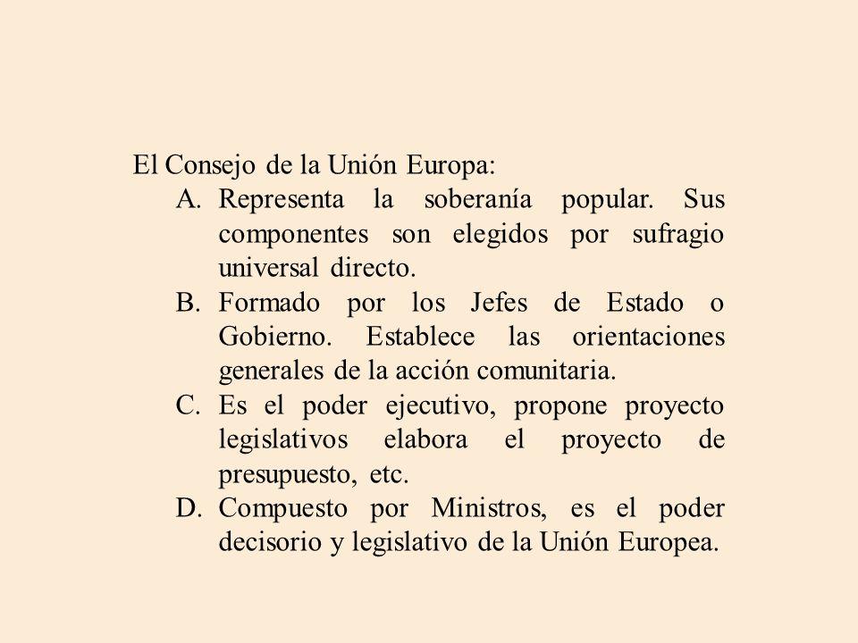 El Consejo de la Unión Europa: