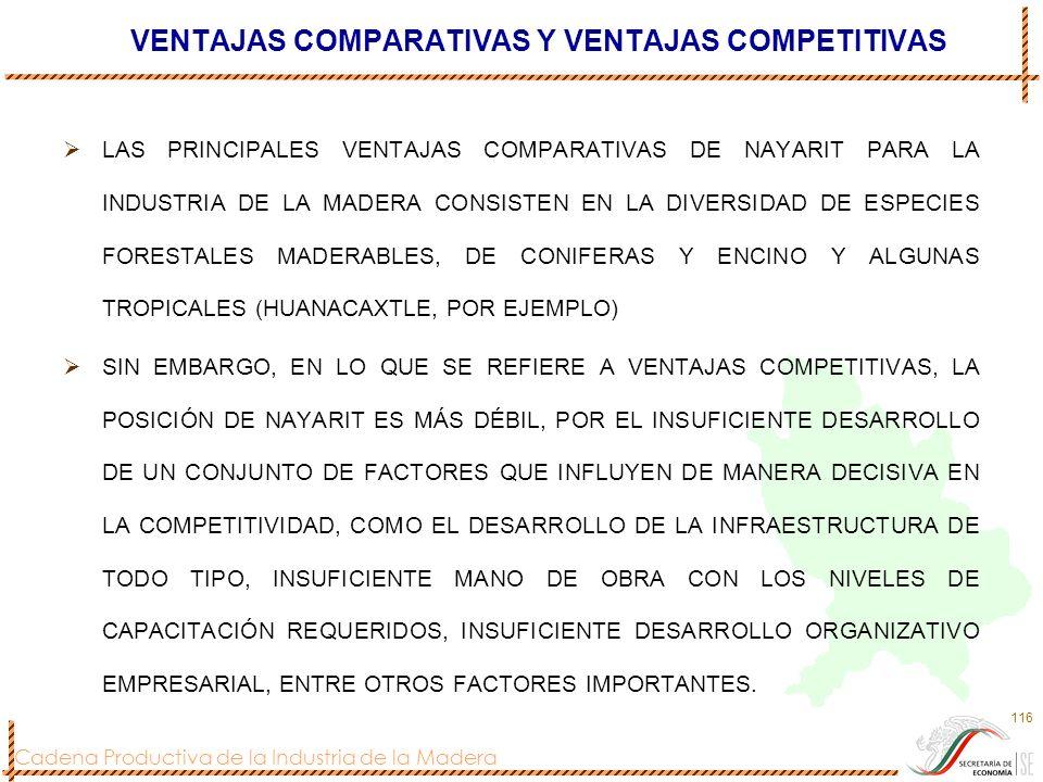 VENTAJAS COMPARATIVAS Y VENTAJAS COMPETITIVAS