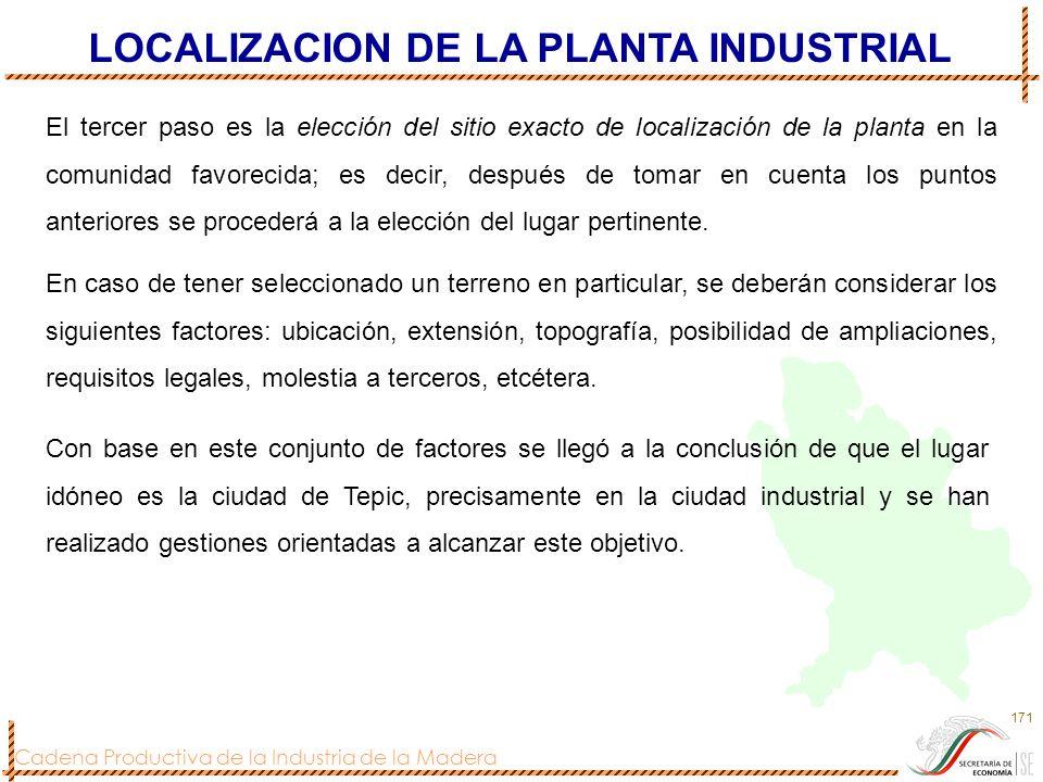 LOCALIZACION DE LA PLANTA INDUSTRIAL