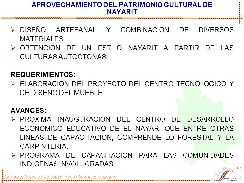 APROVECHAMIENTO DEL PATRIMONIO CULTURAL DE NAYARIT
