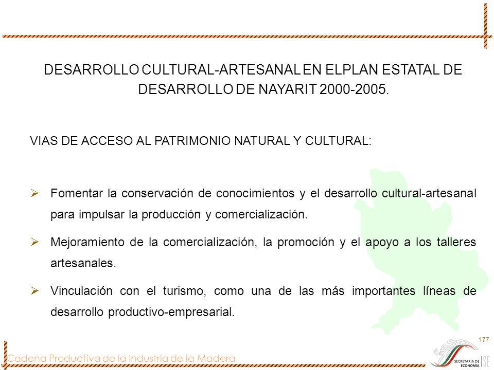 DESARROLLO CULTURAL-ARTESANAL EN ELPLAN ESTATAL DE DESARROLLO DE NAYARIT 2000-2005.