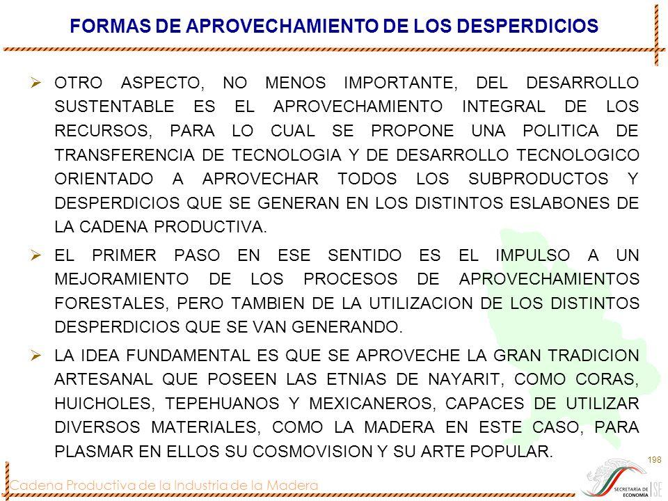 FORMAS DE APROVECHAMIENTO DE LOS DESPERDICIOS