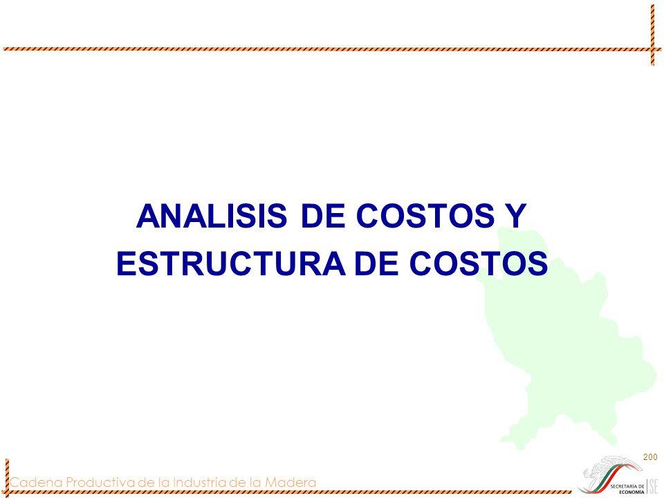ANALISIS DE COSTOS Y ESTRUCTURA DE COSTOS