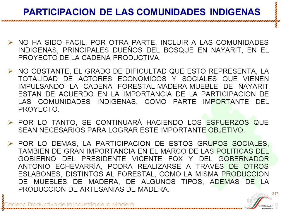 PARTICIPACION DE LAS COMUNIDADES INDIGENAS
