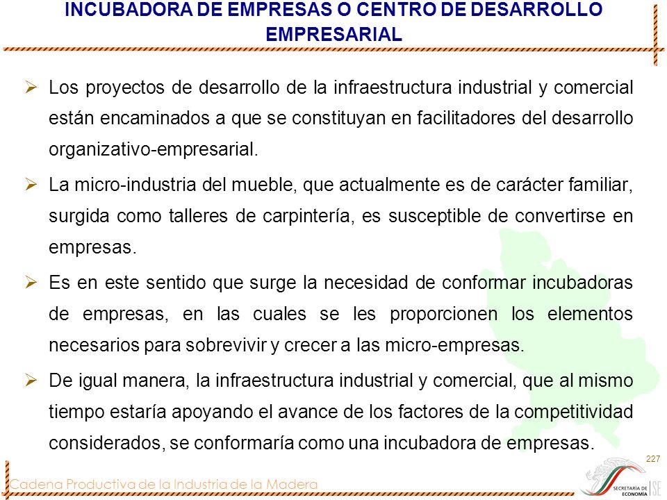 INCUBADORA DE EMPRESAS O CENTRO DE DESARROLLO EMPRESARIAL