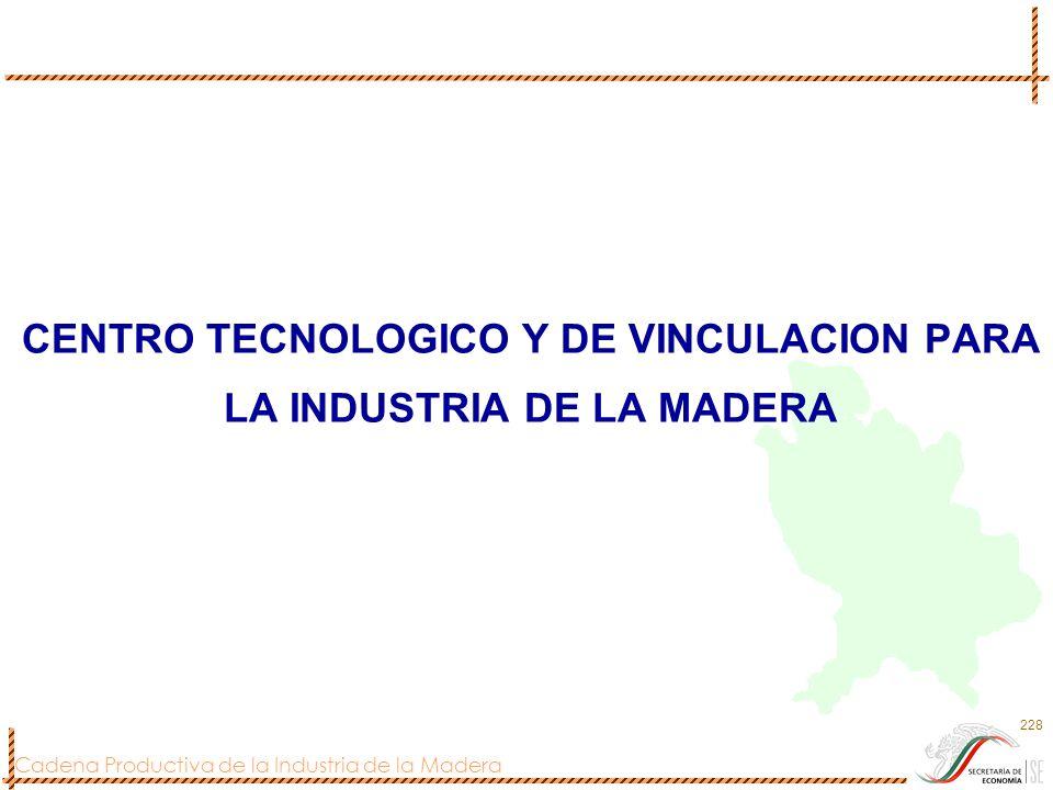 CENTRO TECNOLOGICO Y DE VINCULACION PARA LA INDUSTRIA DE LA MADERA