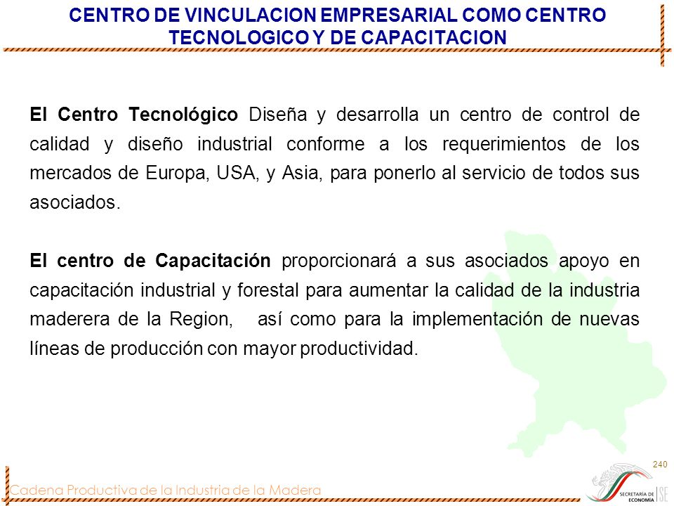 CENTRO DE VINCULACION EMPRESARIAL COMO CENTRO TECNOLOGICO Y DE CAPACITACION