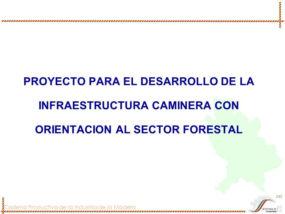 PROYECTO PARA EL DESARROLLO DE LA INFRAESTRUCTURA CAMINERA CON ORIENTACION AL SECTOR FORESTAL