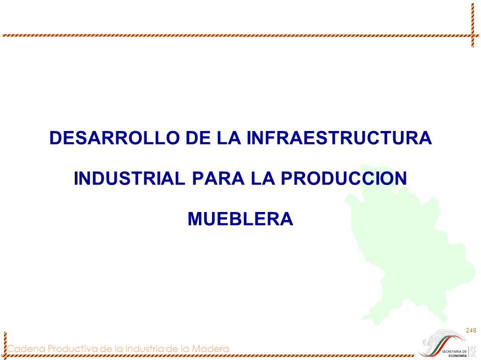 DESARROLLO DE LA INFRAESTRUCTURA INDUSTRIAL PARA LA PRODUCCION MUEBLERA
