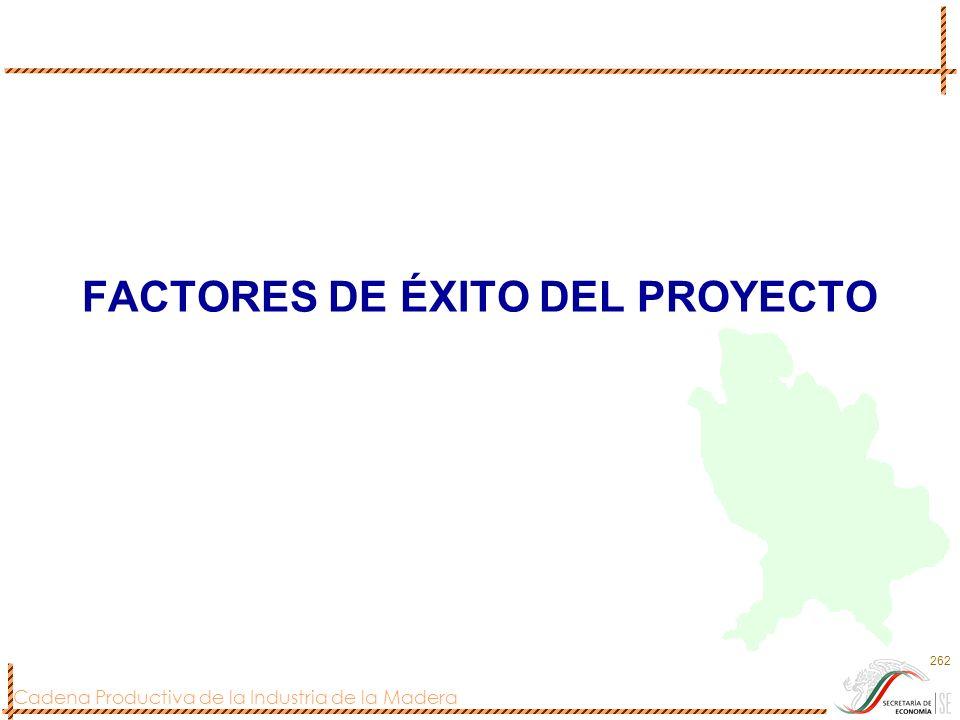 FACTORES DE ÉXITO DEL PROYECTO