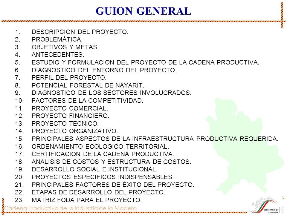 GUION GENERAL DESCRIPCION DEL PROYECTO. PROBLEMÁTICA.