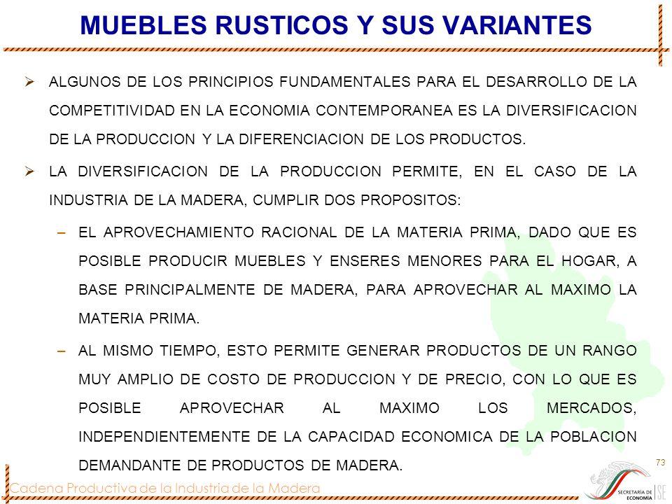 MUEBLES RUSTICOS Y SUS VARIANTES