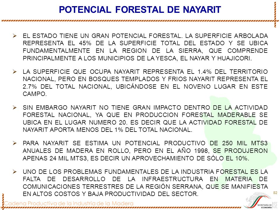 POTENCIAL FORESTAL DE NAYARIT