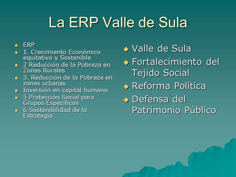 La ERP Valle de Sula Valle de Sula Fortalecimiento del Tejido Social