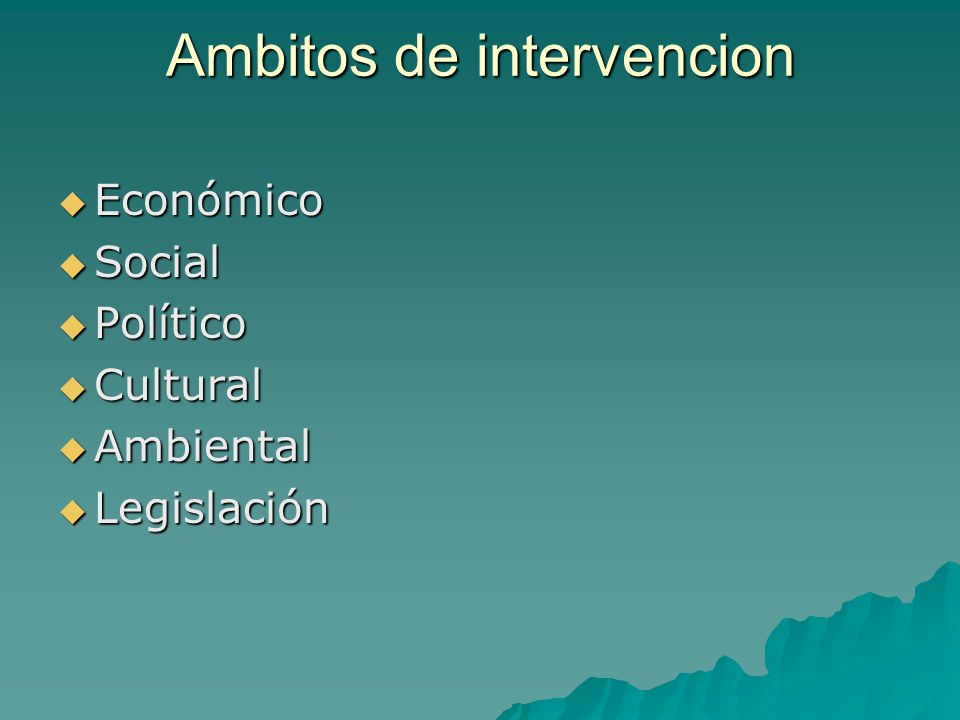 Ambitos de intervencion
