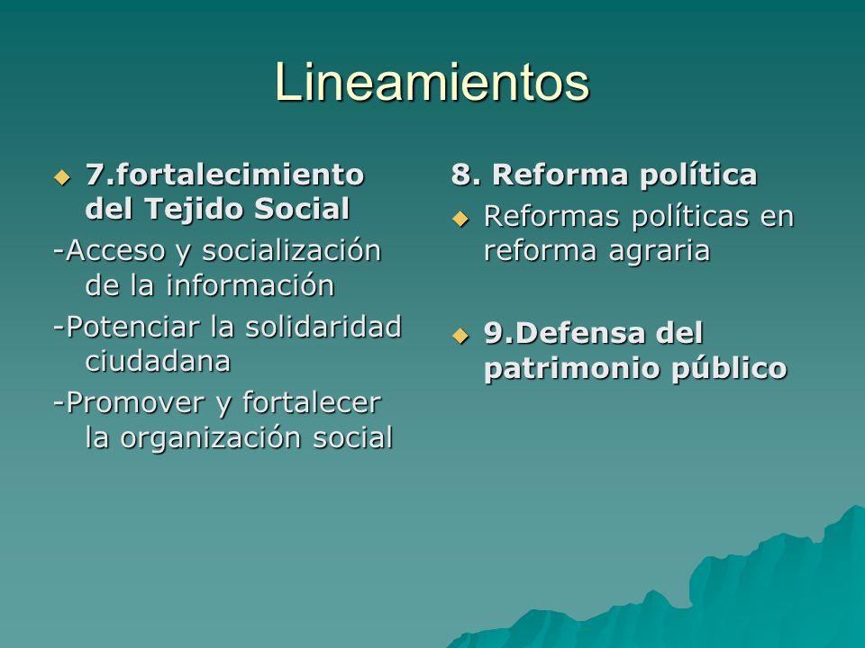Lineamientos 7.fortalecimiento del Tejido Social