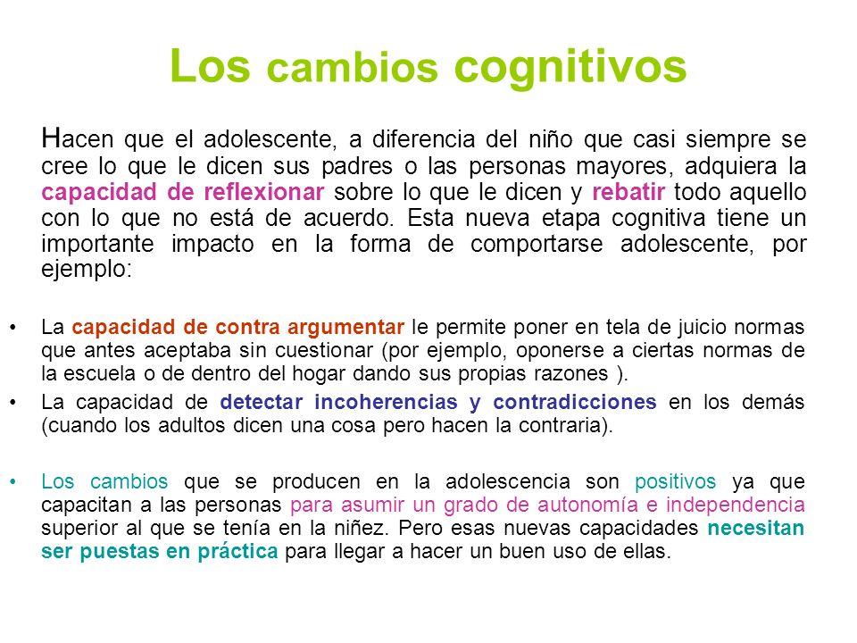 Los cambios cognitivos