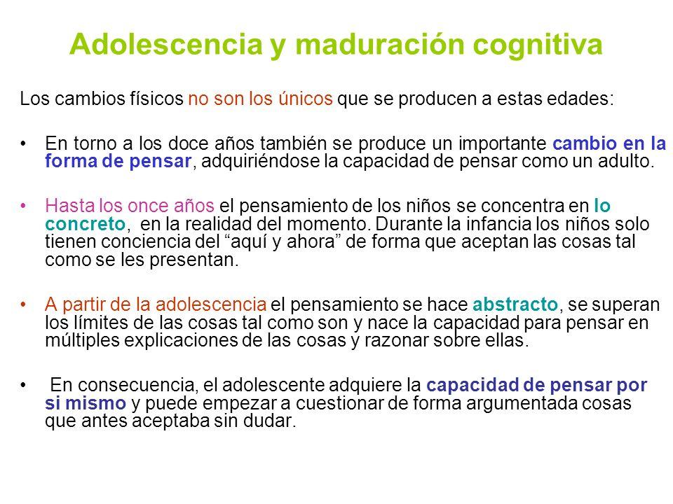 Adolescencia y maduración cognitiva