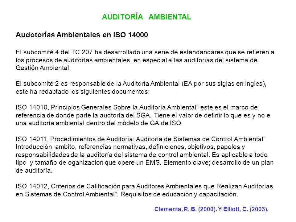 Audotorías Ambientales en ISO 14000