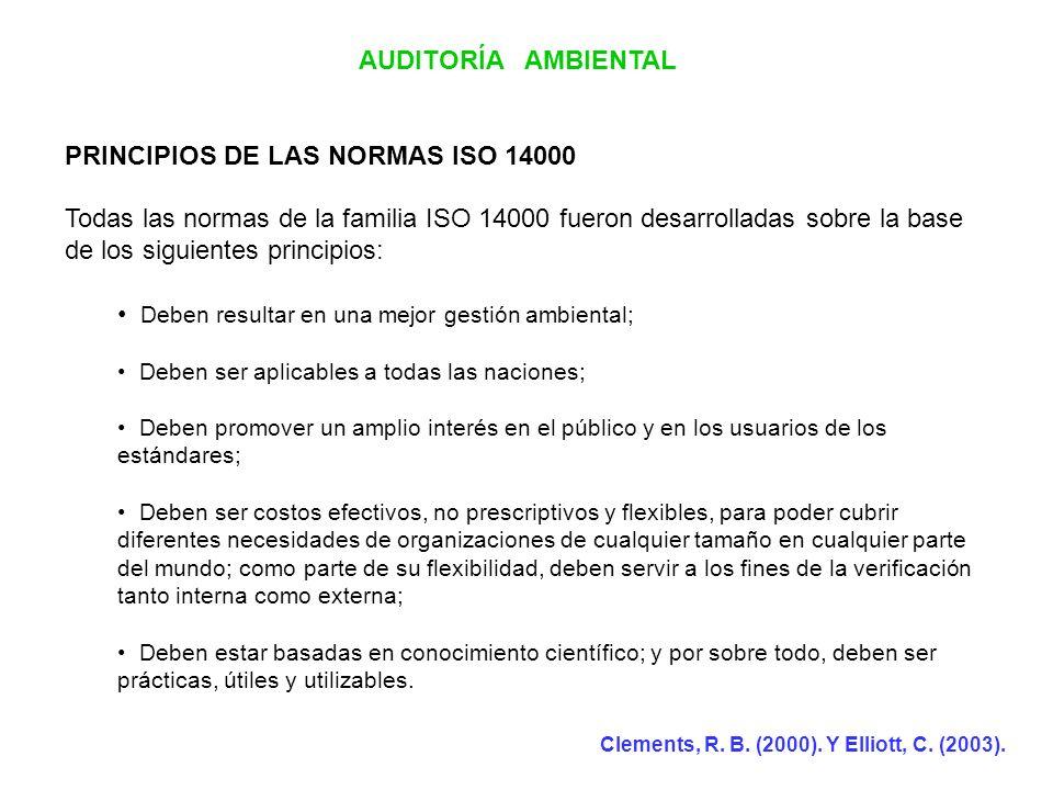 PRINCIPIOS DE LAS NORMAS ISO 14000