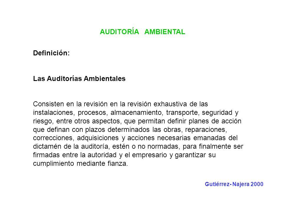 Las Auditorías Ambientales