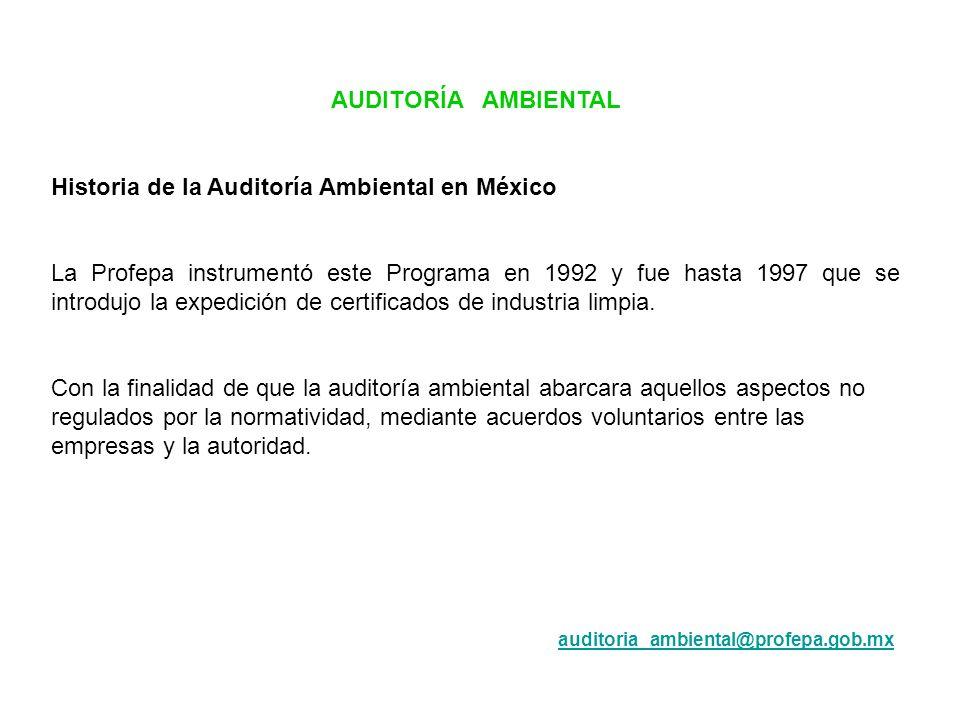 Historia de la Auditoría Ambiental en México