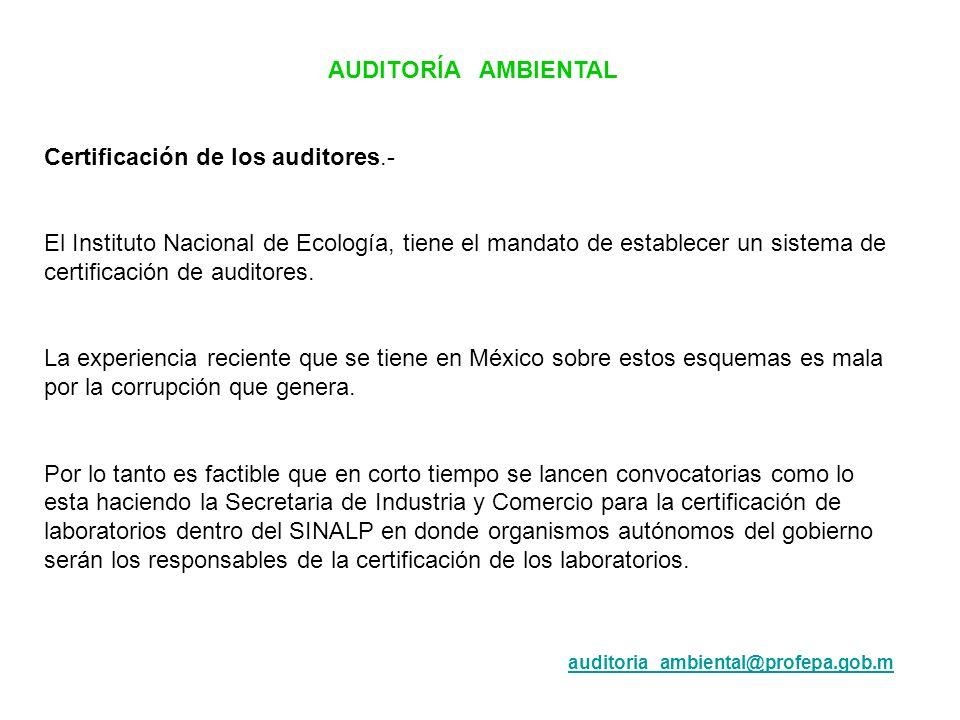 Certificación de los auditores.-