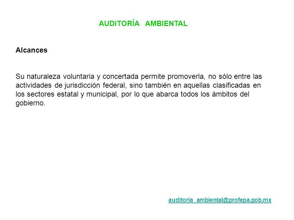 AUDITORÍA AMBIENTAL Alcances