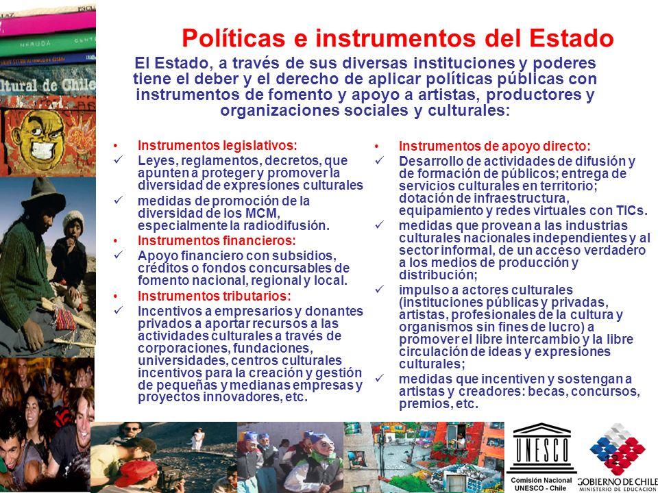 Políticas e instrumentos del Estado
