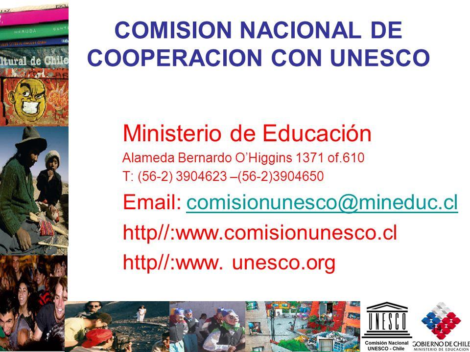 COMISION NACIONAL DE COOPERACION CON UNESCO