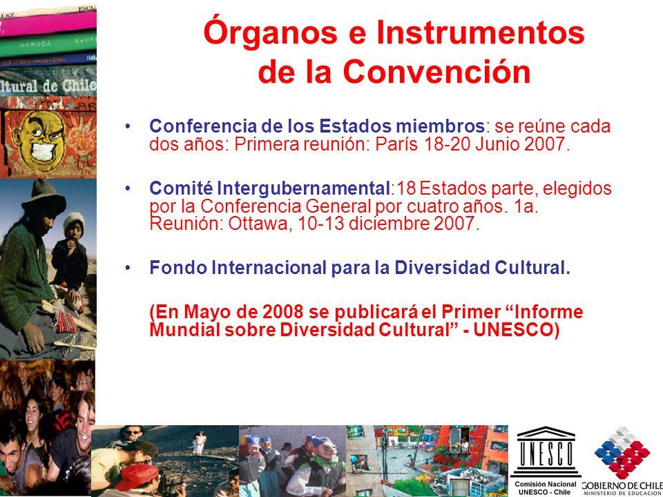 Órganos e Instrumentos de la Convención