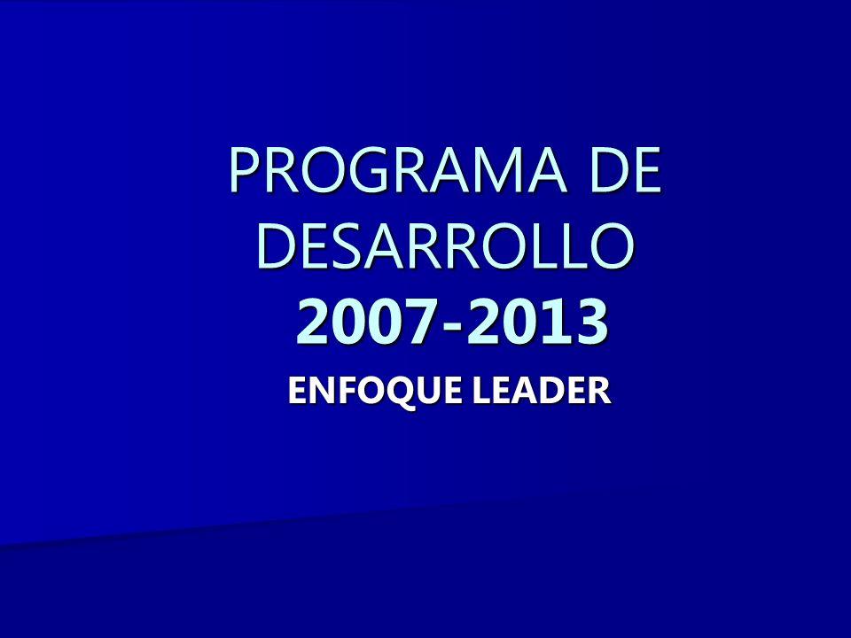 PROGRAMA DE DESARROLLO 2007-2013