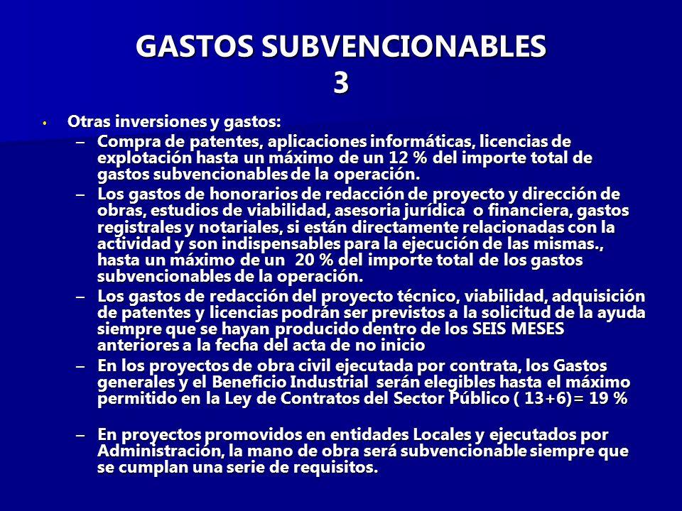 GASTOS SUBVENCIONABLES 3