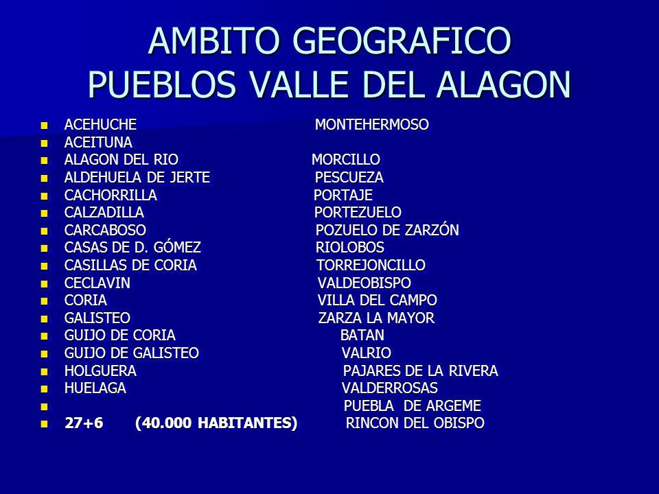AMBITO GEOGRAFICO PUEBLOS VALLE DEL ALAGON