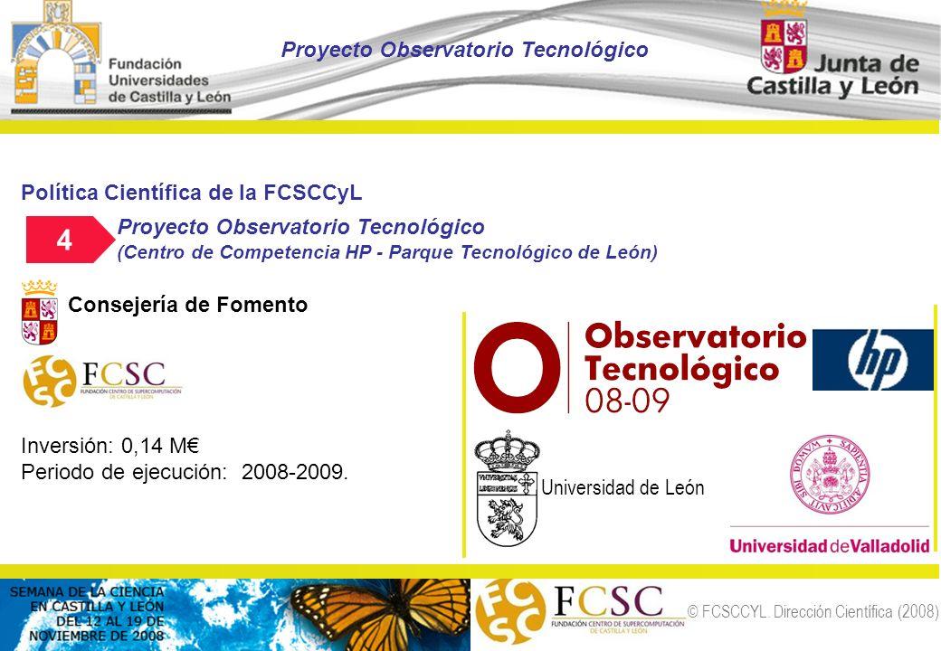 4 Proyecto Observatorio Tecnológico Política Científica de la FCSCCyL