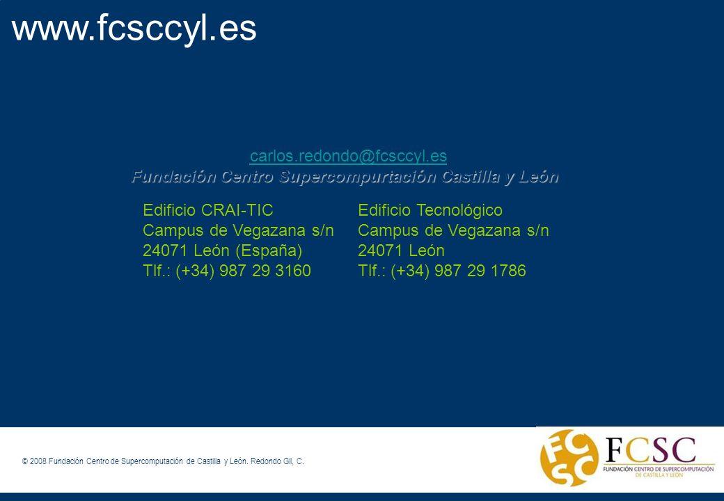 www.fcsccyl.es carlos.redondo@fcsccyl.es