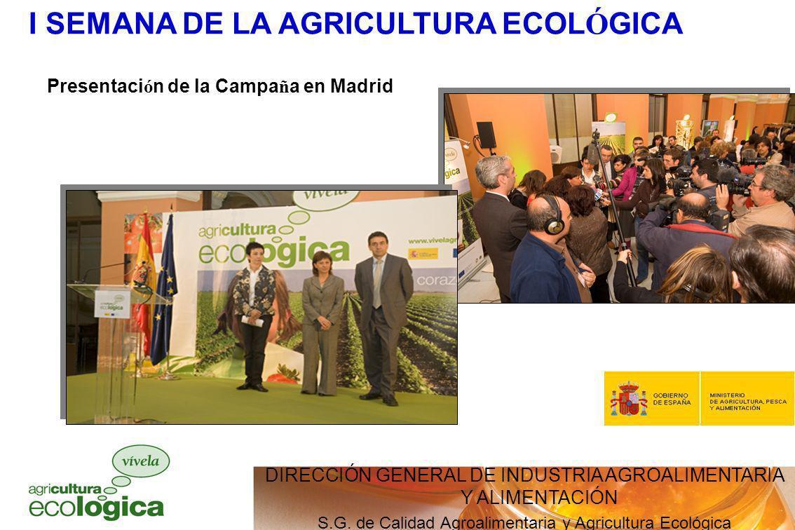 I SEMANA DE LA AGRICULTURA ECOLÓGICA