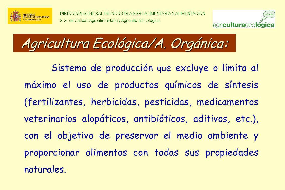 Agricultura Ecológica/A. Orgánica: